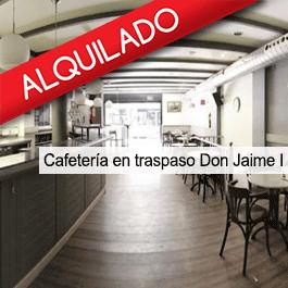 Cafetería en Traspaso C/Don Jaíme I